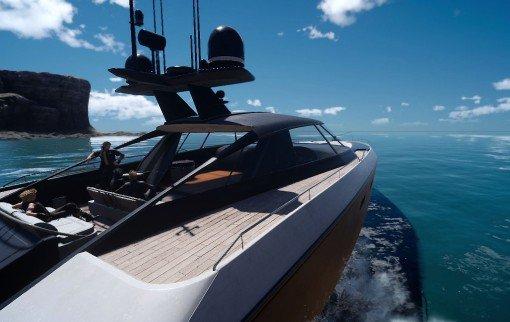 Final Fantasy XV - Balade en bateau